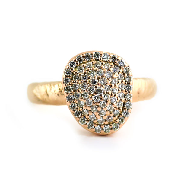 Pave Diamond Rose Gold Textured Finish - Thenetjeweler