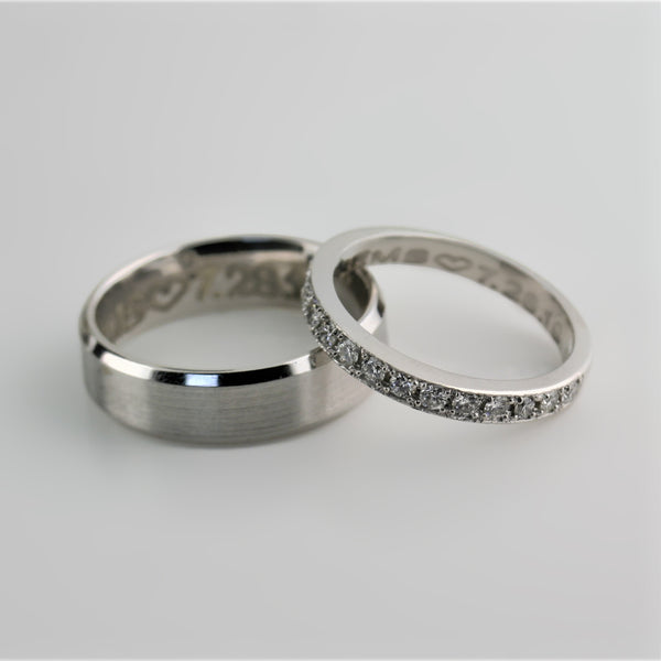 His and Hers Wedding Rings White Gold - Thenetjeweler