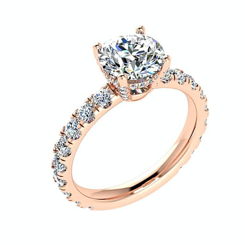 Diamond Side Stone Engagement Ring 18K Gold (1.15 ct. tw.) - Thenetjeweler