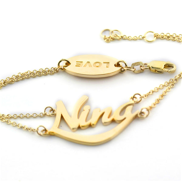 Nina Name Bracelet 10K Yellow Gold - Thenetjeweler