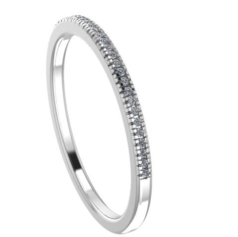 Diamond Anniversary Band 10k White Gold - Thenetjeweler