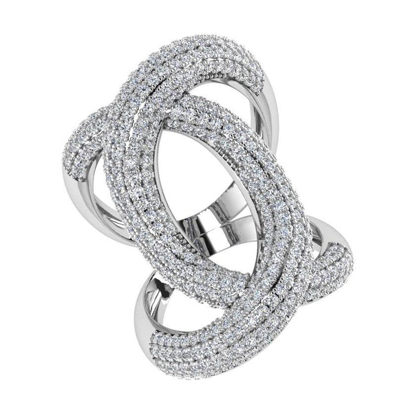 Ring - Diamond Crossover Ring 18K Gold (2.0 Ct. Tw)