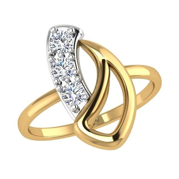 Small Fun Teenager Diamond Ring 14K Yellow  Gold - Thenetjeweler