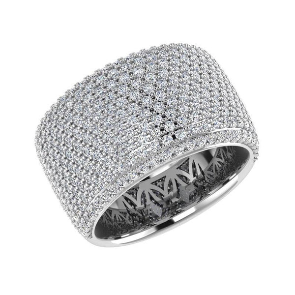 Ring - Wide Band Pave Diamond Ring 18K Gold (2.30 Ct. Tw)