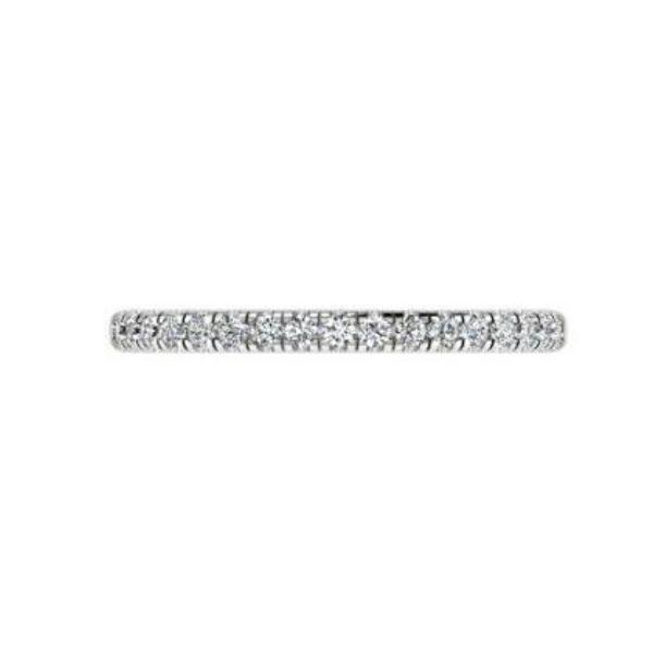 Diamond half eternity ring white gold 18K - Thenetjeweler