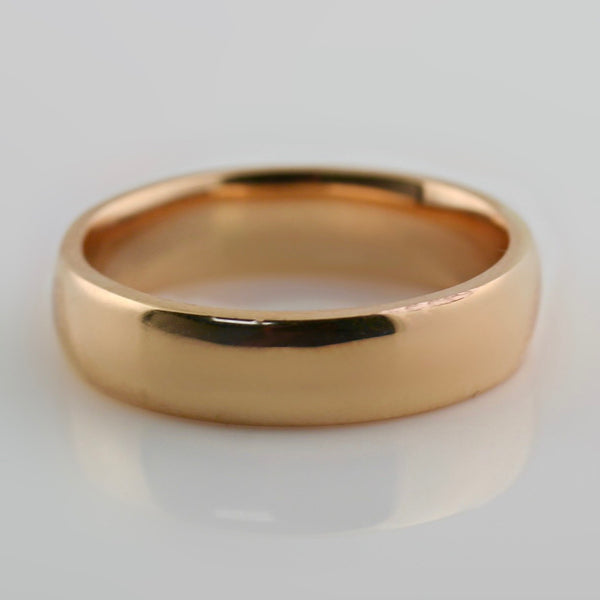 6mm Men's Wedding Band 14K Rose Gold - Thenetjeweler