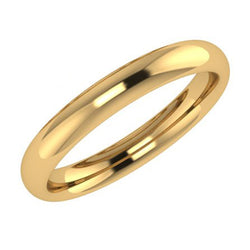 3mm comfort fit wedding ring