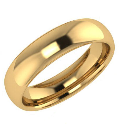5mm Comfort Fit Wedding Ring Yellow Gold - Thenetjeweler