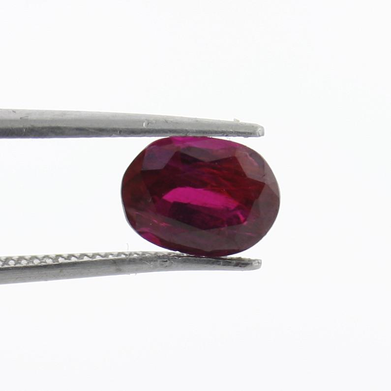 1.78 carat Dark Red Mozambique Ruby Loose Gemstone - Thenetjeweler by Importex