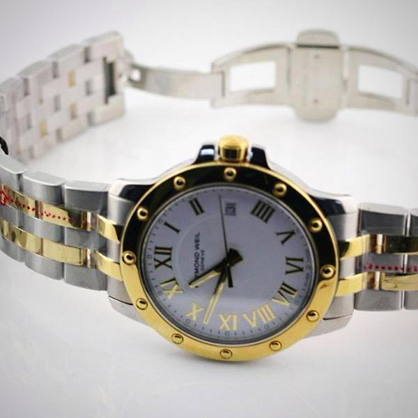 Men's Watch Raymond Weil 5599-STP-00308 GENEVE 2-Tone SS 18k YG Plated - Thenetjeweler