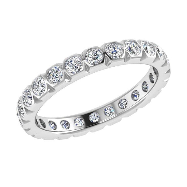 Diamond Eternity Ring 18K Gold (1.15 ct. tw) - Thenetjeweler