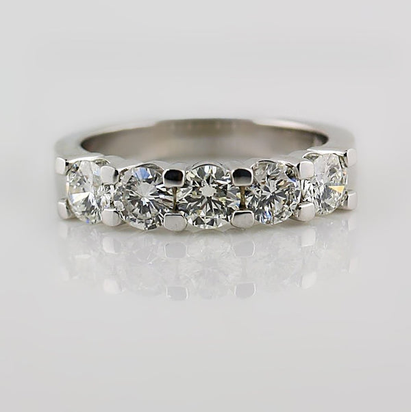 Diamond Half Eternity Ring 18k White Gold - Thenetjeweler by Importex