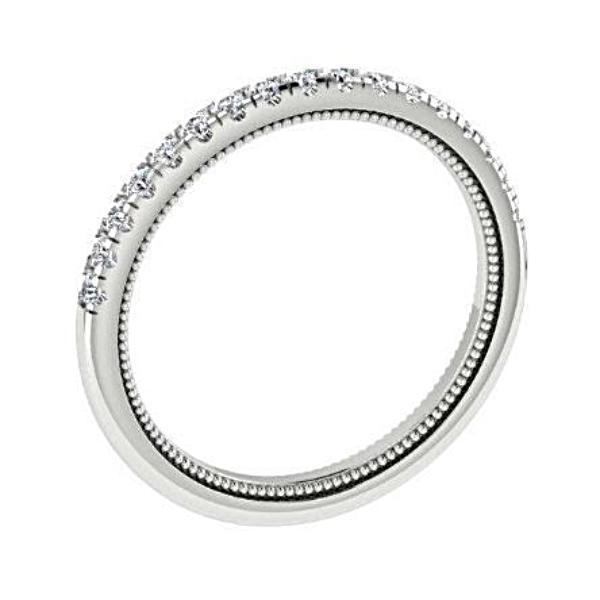 Diamond half eternity ring white gold 18K - Thenetjeweler by Importex