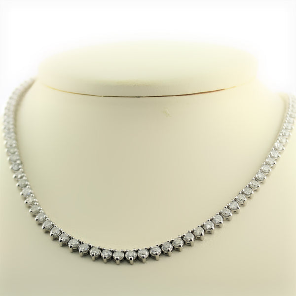 Tennis Diamond Necklace 7.75 ct. tw. - Thenetjeweler