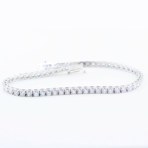 Tennis Diamond Bracelet 14K White Gold 3.83 ct.t.w.