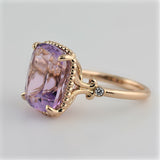 Tiffany Sparklers Amethyst Cocktail Ring 18K Rose Gold - Thenetjeweler