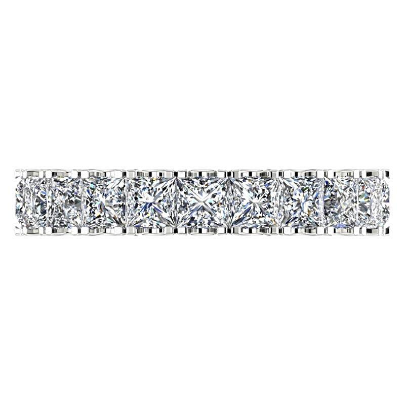 Princess Cut Diamond Eternity Ring Band 14K White Gold - Thenetjeweler by Importex