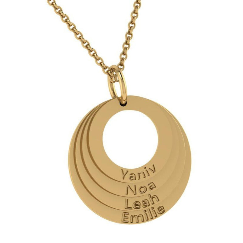 Personalized Family Stacked Circles Necklace