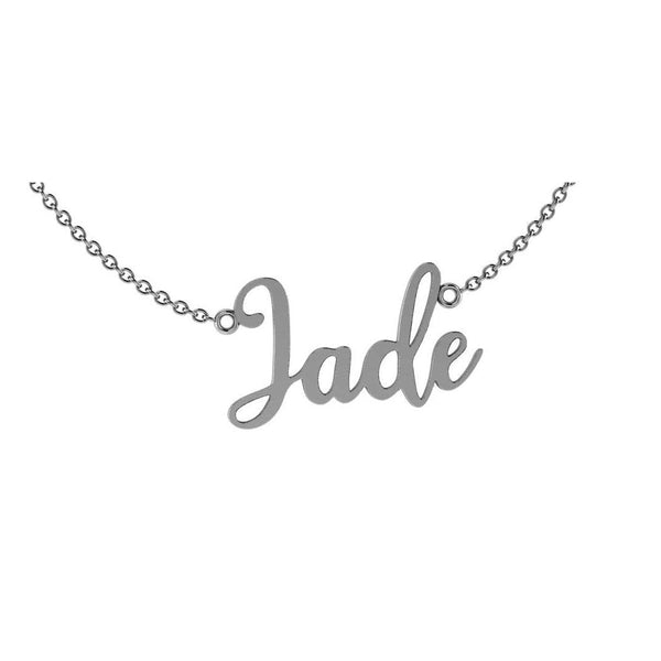 Personalized 14k Gold Name Necklace JADE
