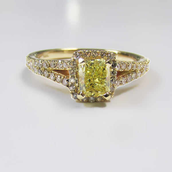 Yellow Diamond Ring Yellow Gold