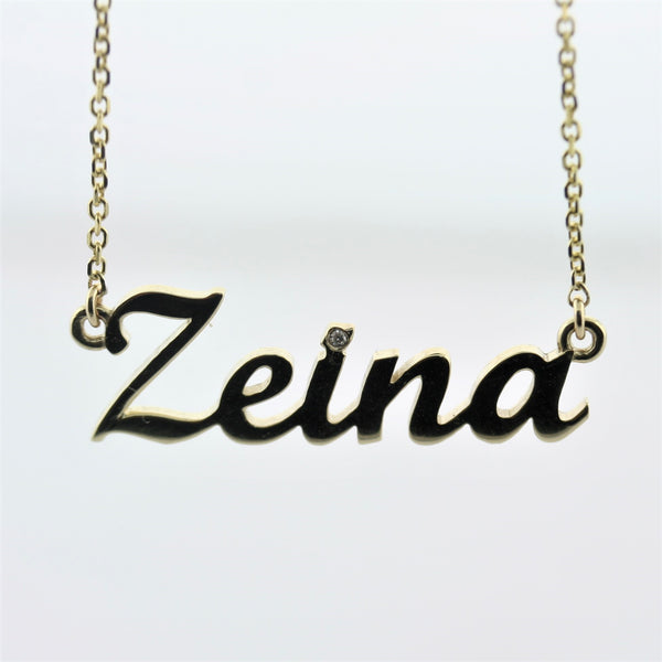 Personalized Necklaces Gold