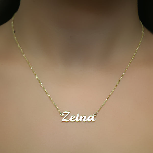Name Necklace 14k gold ZEINA
