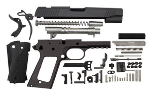 "9 / Government 5"" Tactical  / Anodized Black 1911 Build Kit"