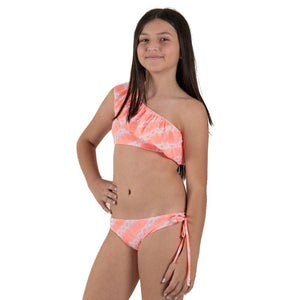 Orange Tie Dye - One Shoulder Bikini