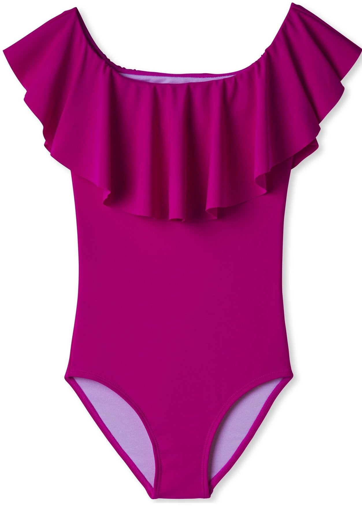 Neon Purple Bathing Suit for Girls