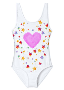 Star Cloud Tank Swimsuit for Girls
