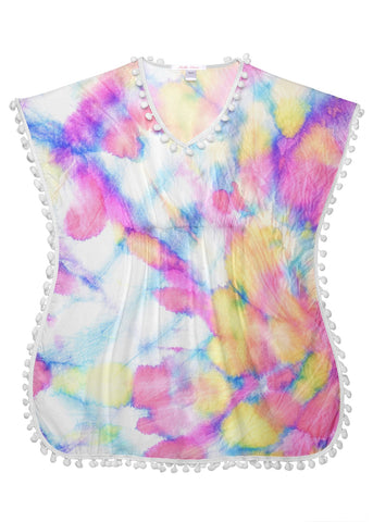 Whirl Pom Pom Cover Up for Girls