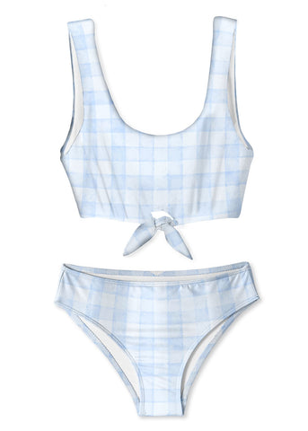 Blue Check Bikini for Girls