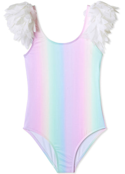 Rainbow Tank Swimsuit with Petals