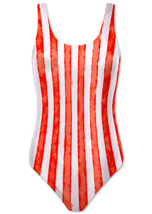 Red Stripe Womens Tank