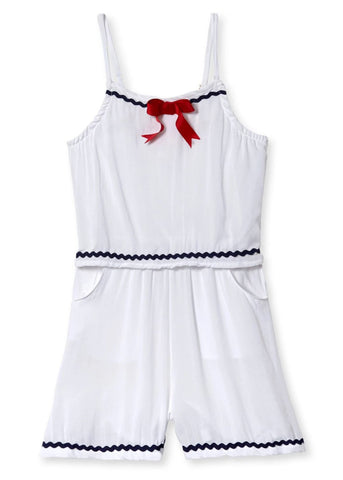 Sailor Inspired Cover-Up Romper for Girls