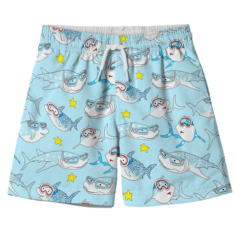 Board Shorts with Sharks