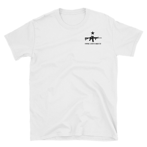 """Come and Take it"" White Tee - rightreality"