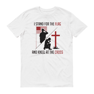"""Stand for the Flag, and Kneel at the Cross"" Tee - rightreality"