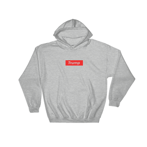 "Trump ""Red Box Logo"" Hoodie - rightreality"