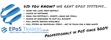 Did you know Epostraders rent Epos systems and all kinds of PoS hardware?