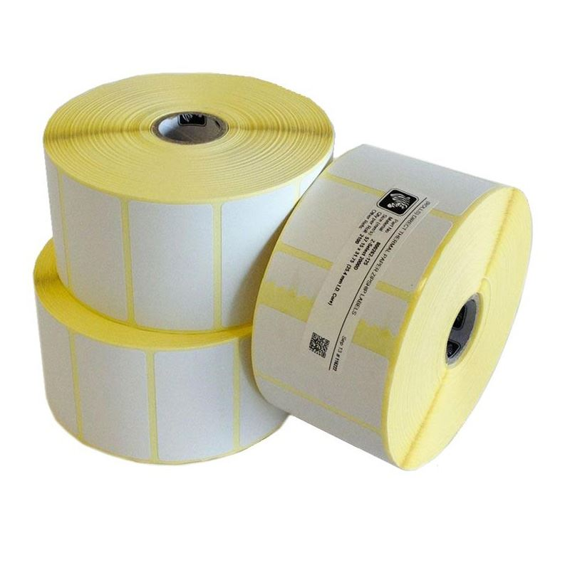 800262-125 Zebra 57 x 32mm Direct Thermal Paper Label, Permanent Adhesive, 25mm Core (Perforation) Single Roll