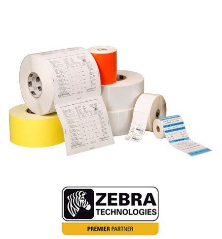 800283-205 Zebra 76mm x 51mm Uncoated Direct Thermal Paper Label, Permanent Adhesive (Perforation) Single Roll