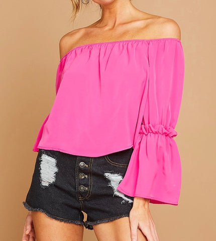 Pink Off Shoulder Top