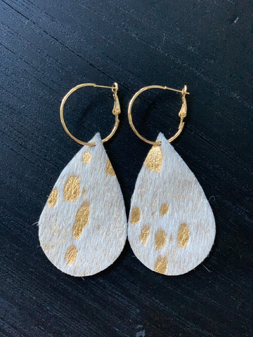 Handmade Hair On Hide Earrings
