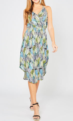 Zoe Tropical Print Dress