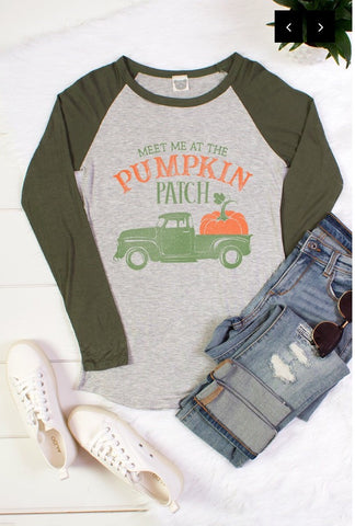 "Olive ""Pumpkin Patch"" Long Sleeve Top"