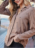 Mocha Lightening Bolt Top