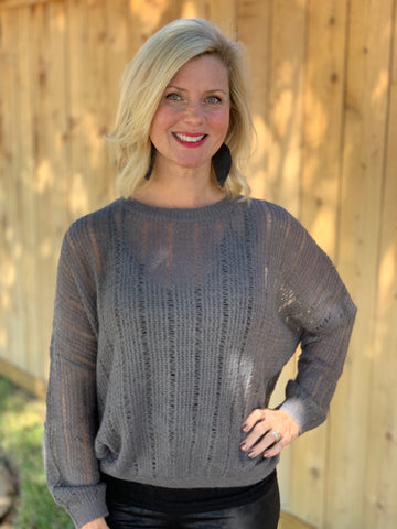 Charcoal Sweater Top