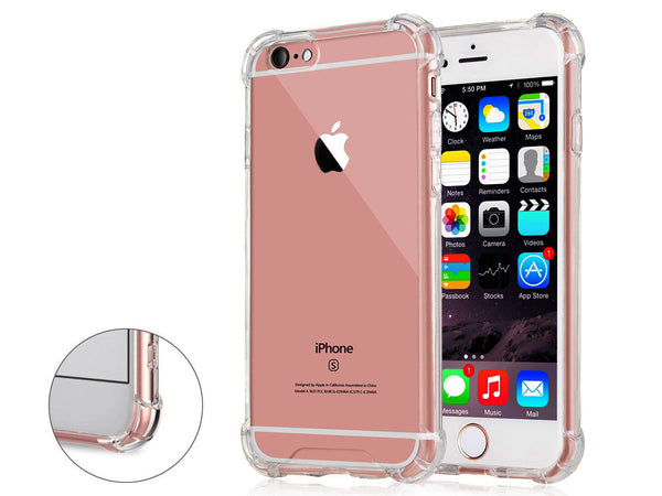 iPhone 6S / 6 Transparent Case with Reinforced Corners, [Anti-Discoloration] [No-Slip Grip]