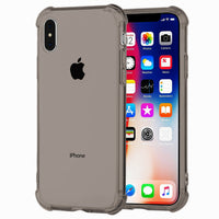 iPhone X Transparent Case with Reinforced Corners, [Anti-Discoloration] [No-Slip Grip]